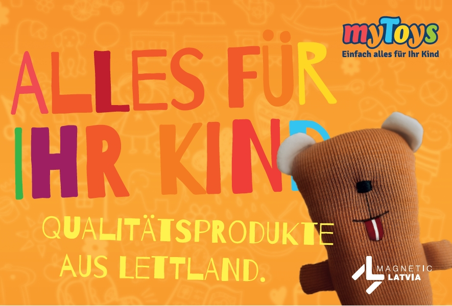 Lettische Produkte für Kinder im Lübecker Haerder-Center