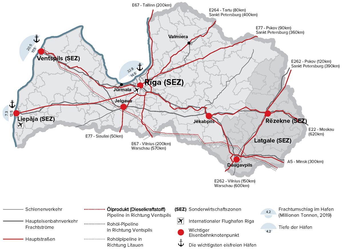 Lettland Infrastruktur 2020