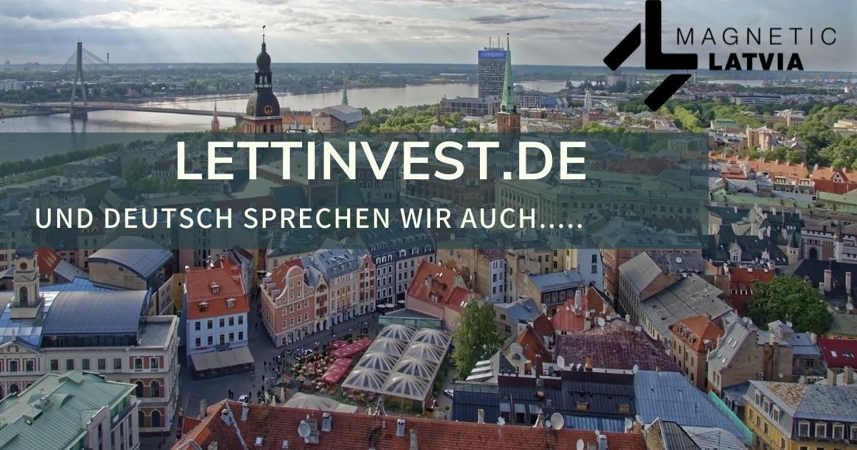 Die Präsenz der deutschen Sprache hilft bei Investitionen in Lettland